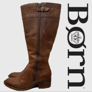 Born Fannar Leather Knee High Boots Size 10
